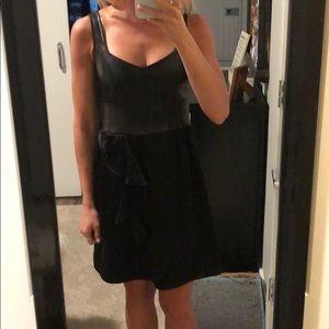 Nanette Lepore Leather Bodice Dress